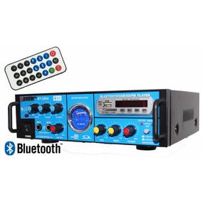 Mini Amplificador De Som Com Bluetooth 2 Canais 160 Rms