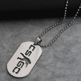 Colar Dog Tag Cs Go Counter Strike Global Offensive Metal