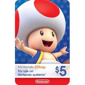 Cartão Nintendo Usa - Eshop Cash Card $5 Dólares Faço 18r$