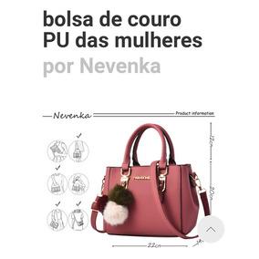 Bolsa Feminina De Couro Pu Nevenka Pronta Entrega