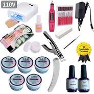 Kit Completo Unha Acrigel Manicure + Cabine + Lixa + Kit Gel