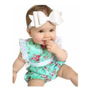 Body Verde Floral Bebê Infantil Roupa Romper Importado