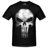 Camiseta Camisa Caveira Logo Justiceiro Punisher Marvel