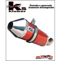 Escape Ponteira Alumínio Ks Racing + Curva Inox Cb 300 R