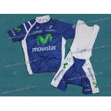Uniforme Ciclismo Movistar Maillot Culotte Lycra Xl 2012 Imp