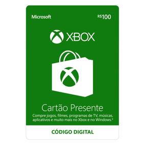 Cartão Presente Xbox R$100 - Código Digital Oficial Brasil