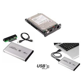 Case De Disco Duro 2.5´ Laptop A Dd Metal Externo Usb 2.0