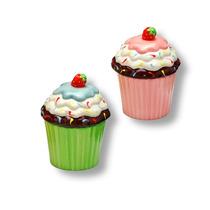 Pote De Cerâmica Cupcake Decorativo C/ Tampa