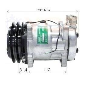 Compressor Ar Condicionado 7h15 Trator Uniport 8 Orelhas 12v