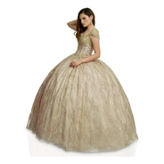Vestido Quinceañera Glitter Aplicaciones Quince Años Xv 1004