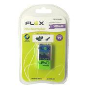 Bateria Flexgold 9v Recarregável Kit C/4 Pçs 250mah
