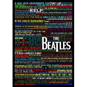 Pôster Decorativo Banda Beatles 60x40cm
