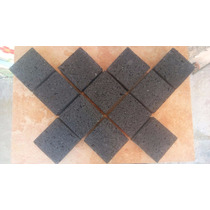 Piso Adoquin De Piedra Natural Recinto Negro 10x10x4cm Exter