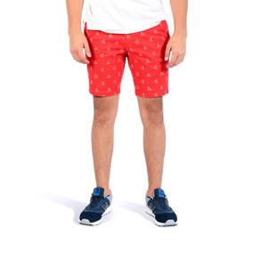 Short Color Siete Para Hombre - Rojo