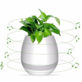 Maceta Luminosa Led Parlante Inalámbrico Musical Pot Moderno
