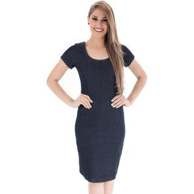 Vestido Feminino Azul Escuro - Não Perca