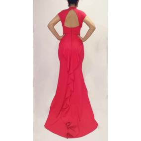 Vestido Halter Cola De Olan Red Carpet