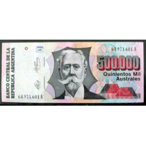 Argentina - Australes 500.000 Bottero 2902 Excelente B0005