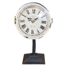 Relógio De Mesa Bordeaux Ferro Normann Oldway 30x15x14