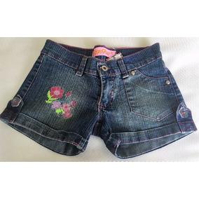 Short Jeans Infantil Flora Flor Tam.8anos