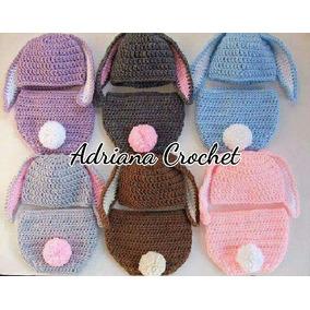 Gorro Y Calzoncito Pañalero Crochet Tejido