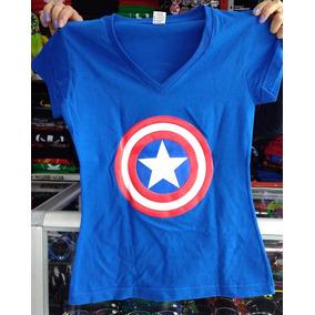 Camiseta Capitan America - Dama