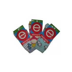 Medias Niñas Juveniles De Algodón Elemento Talle 4 Pack X3