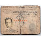 Carnet Agente De Investigaciones Resistencia Chaco 1952