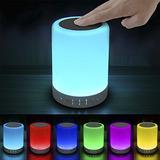 Lámpara Led Luz De Noche Parlante Bluetooth Táctil Colores