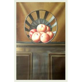 Cuadro Antiguo Oleo Pintura Bodegon A Mano Arte Profesional