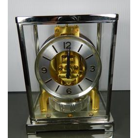 Raro Reloj Baby Atmos Jaeger Lecoultre Plateado Funciona