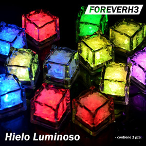 Hielos Luminosos Led Colores Fiestas Cubo Luz Bebidas Bodas