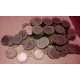 Lrbl. 120 Monedas Bimetálicas Bs 1 Aro Dorado 2007-09 Usadas