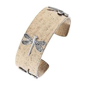 La Joya Rack Dragonfly Charm Cuff Bracelet (oro Antiguo)