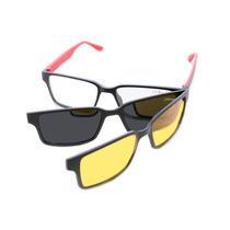 Armação Óculos Acetato Clip-on Para Grau Lançamento