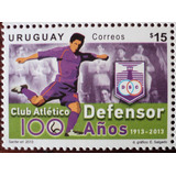 Osl Sello 2615 Mint Uruguay Club Defensor 100 Años Fútbol