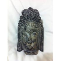 Cabeça Deusa Indiana Esculpida Em Pedra. Alt 17cm /larg 10cm