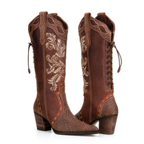 Bota Texana Feminina Country 100% Couro Elef- Capelli Boots