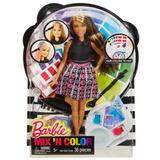Muñeca Barbie Mix N Color Pinta El Pelo Mechas De Color