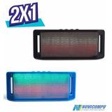 Promo 2x1 Parlante Potente Bluetooth Radio, Usb + Aux+ Luz