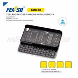 Capa Com Teclado P/ Iphone 4/4s Bluetooth Feasso Fatc-50