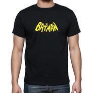 Remera Batman Logo Algodon Personalizada