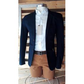 Saco Blazer De Hombre Casual Formal Corte Slim Fit Con Forro