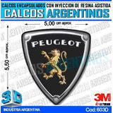 Calcomanias 3d Con Relieve, Resina Importada Logo Peugeot