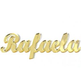 Letra,nome Acrílico Espelhado Dourado 70 Nomes