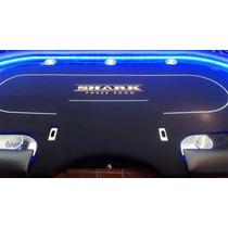 Mesa De Poker Shark Night Con Luz Led Y Base Profesional