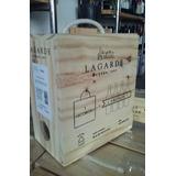 Bag In Box Lagarde 3 Lts Malbec Caja De Madera Regalo Ideal