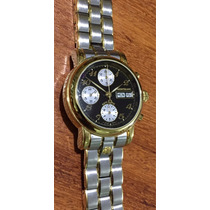 Relógio Mont Blanc Original Cronógrafo Automático Ouro Aço