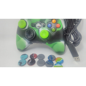 Controle Xbox 360 C/fio Usb Manete Pc Cabo 2 Mts +1 Brinde