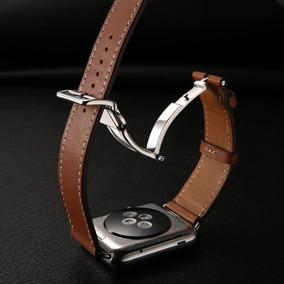 Pulseira Apple Watch Couro Legitimo Tour Hermès Buckle 42mm